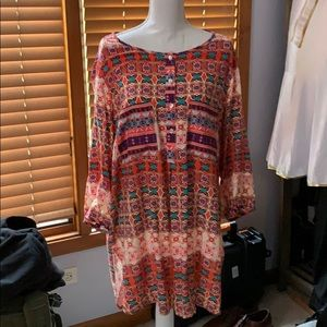 EUC Anthropologie Fig & Flower Tunic/Top